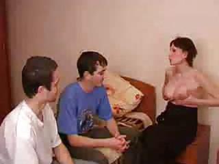 pregnant brunette lady obtains gangbanged