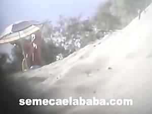 swinger on the shore