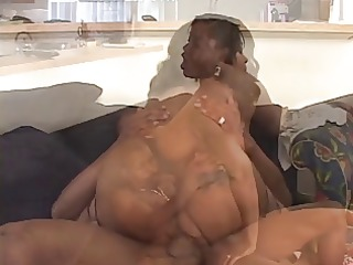 brown dd milf into fishnets bends over to give
