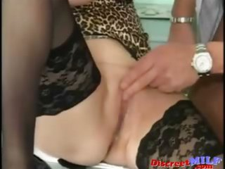 german assistant milf drilling with the boss