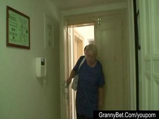 large boobed grandma masturbates a stranger