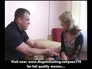 inexperienced hot blonde bride adorable talking