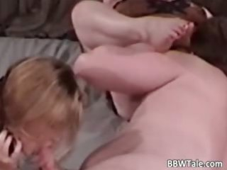 bbw mature blondes share one giant dick part2