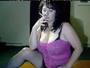 naughty mommy tells you to cum during she smokes