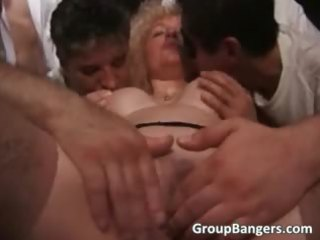 curly milf bleached takes oral and wet part5