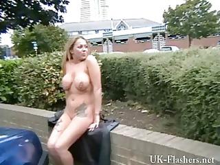 busty woman ginas al fresco nudity and american