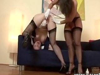cougar inside nylons with plastic cock on kitty