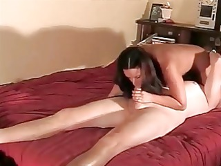 extremely impressive brunette woman creampied on
