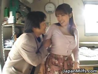 naughty japanese mature babes sucking and