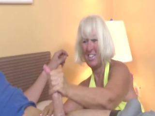 elderly welcomes boy wtih a handjob