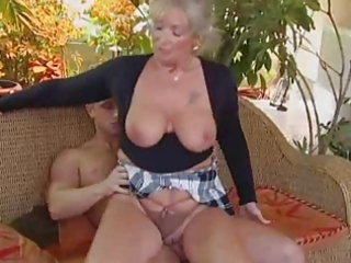 bleached granny boned by a stud