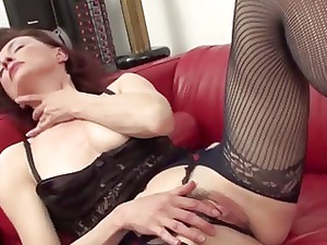 lady inside expose hose and lingerie fisting
