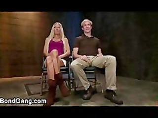 loan sharks copulate rope bondage slutty blonde