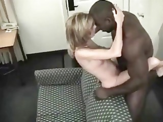 sweetheart blonde wife adores her muscular brown
